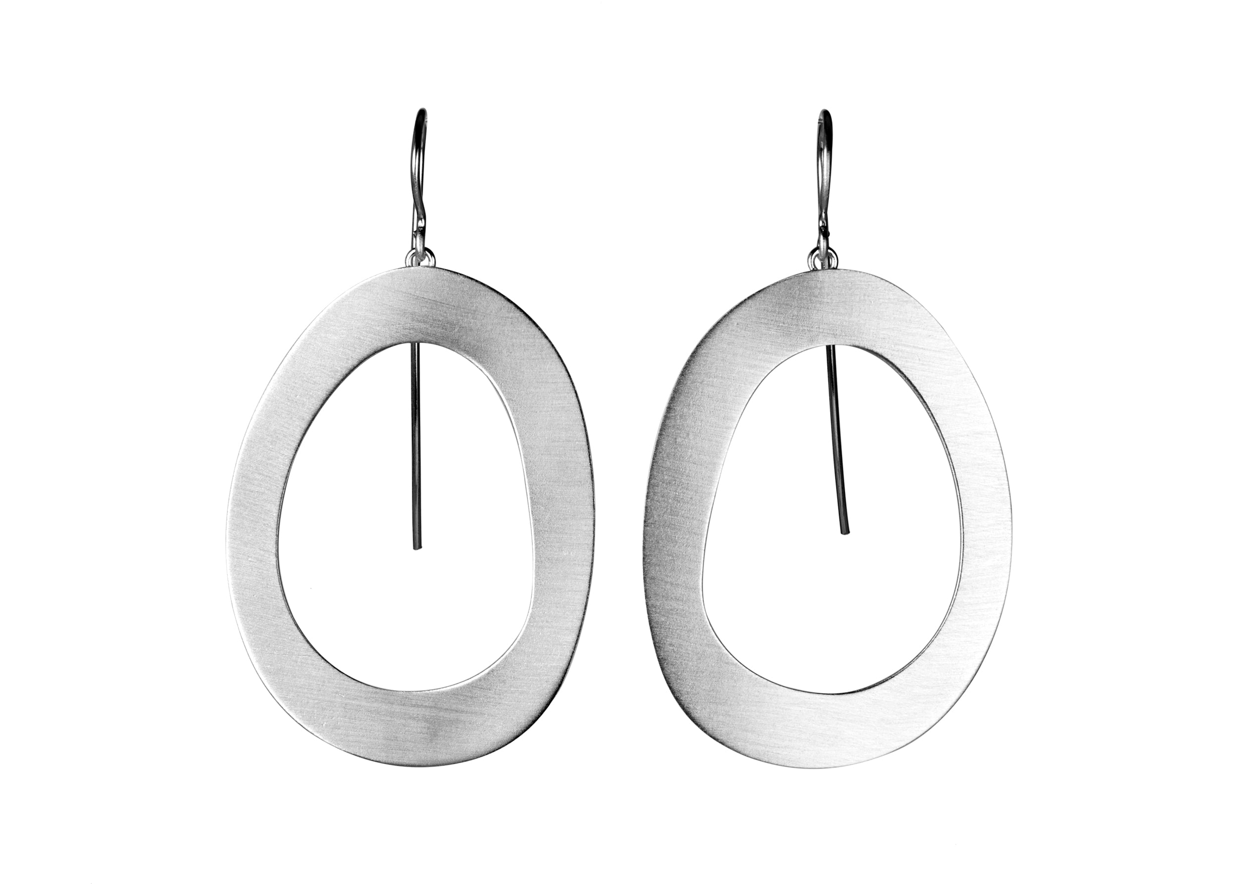 "Sterling Silver ""Stepping Stone"" Earrings - Large Size"