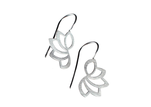 "Sterling Silver ""Lotus Wire"" Earrings"