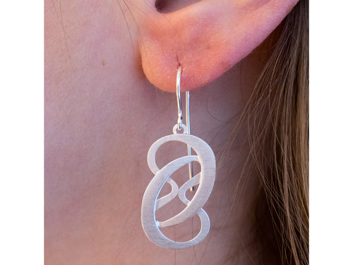 "Silver ""Forever"" Earrings"