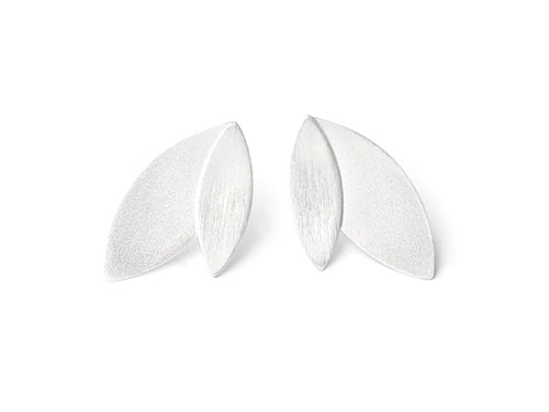 "Sterling Silver ""Leaves"" Earrings"