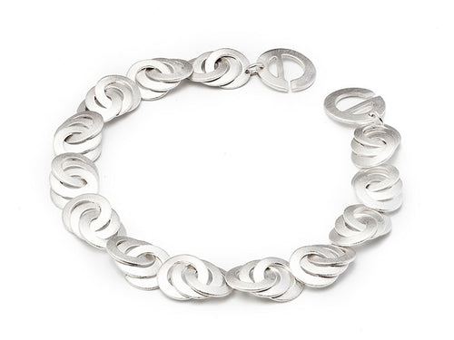 "Sterling Silver ""Circle Infinity"" Bracelet"