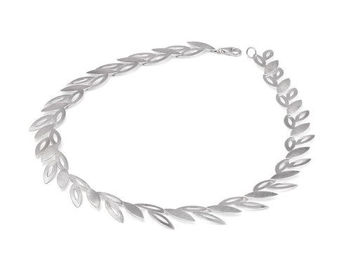 "Sterling Silver ""Falling Petals"" Necklace"