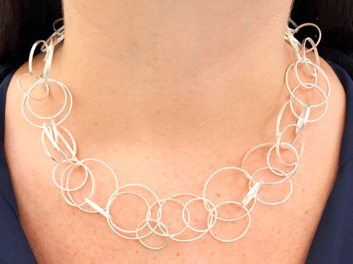 "Sterling Silver ""Circus"" Necklace"
