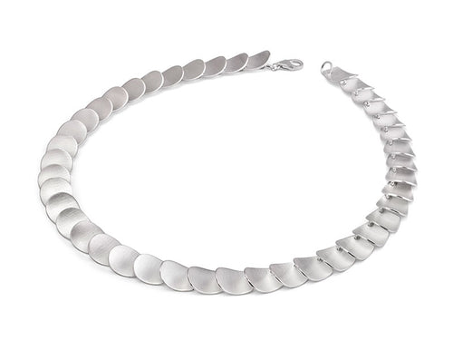 """Layered Disk"" Necklace in Sterling Silver"