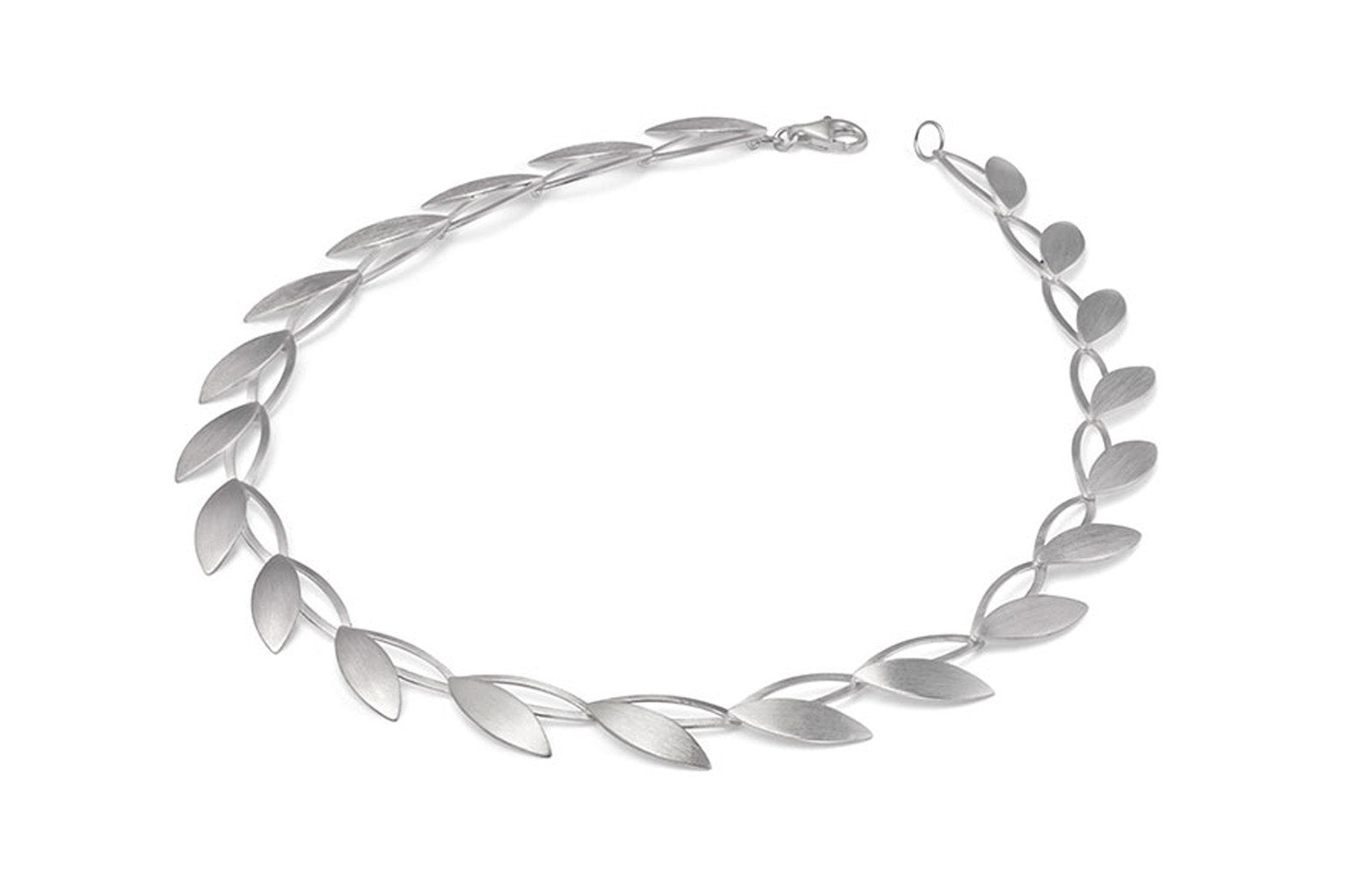 "Sterling Silver ""Open Leaf"" Necklace"