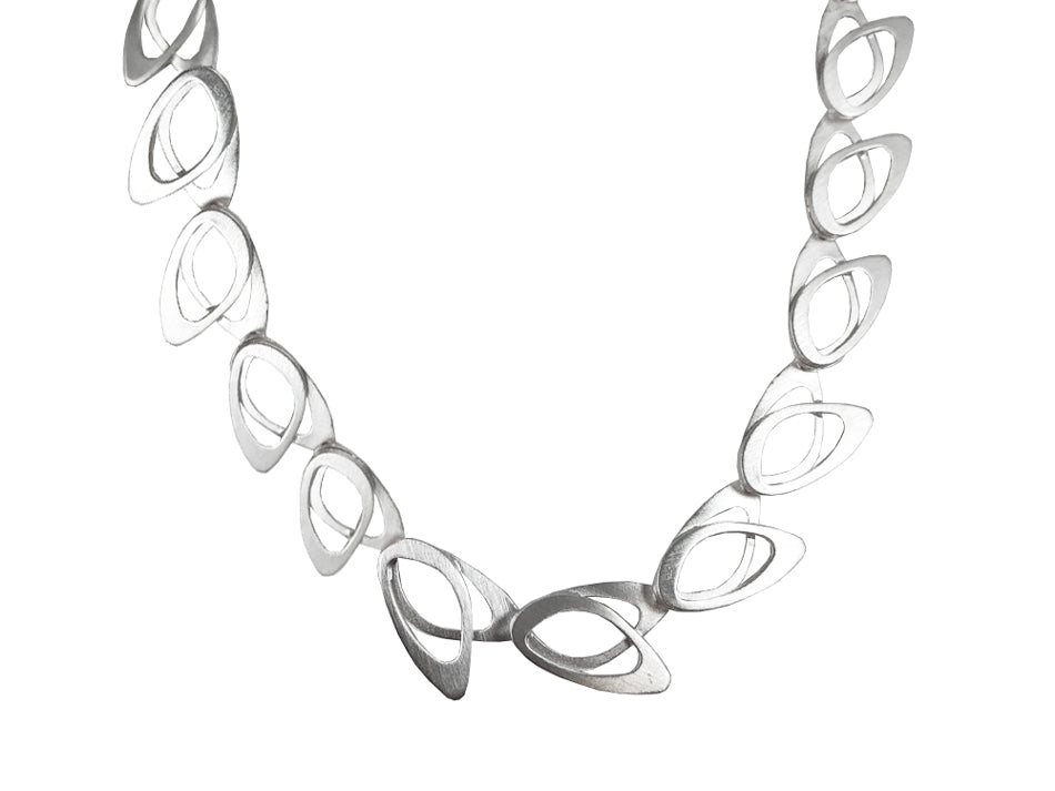 "Sterling Silver ""70's Wallpaper"" Necklace"