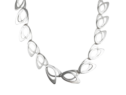 "Silver ""70's Wallpaper"" Necklace"
