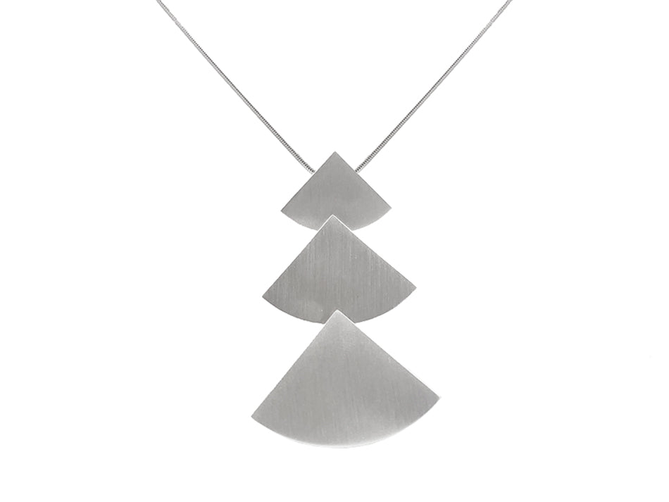 "Sterling Silver ""Tri Mod"" Necklace"