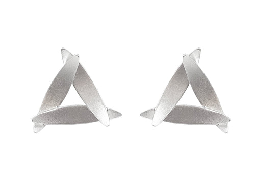 """Three-Leaves"" Stud Earrings"
