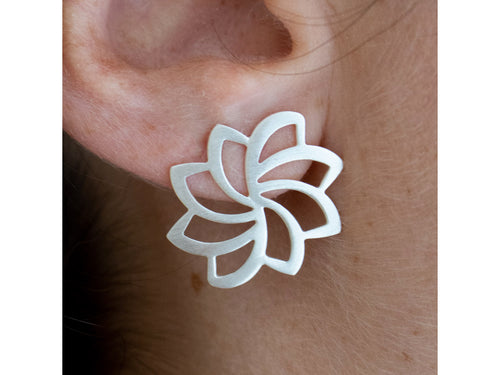 """Lotus Flower"" Earrings"