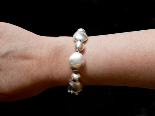 "Sterling Silver ""Pebble"" Bracelet"