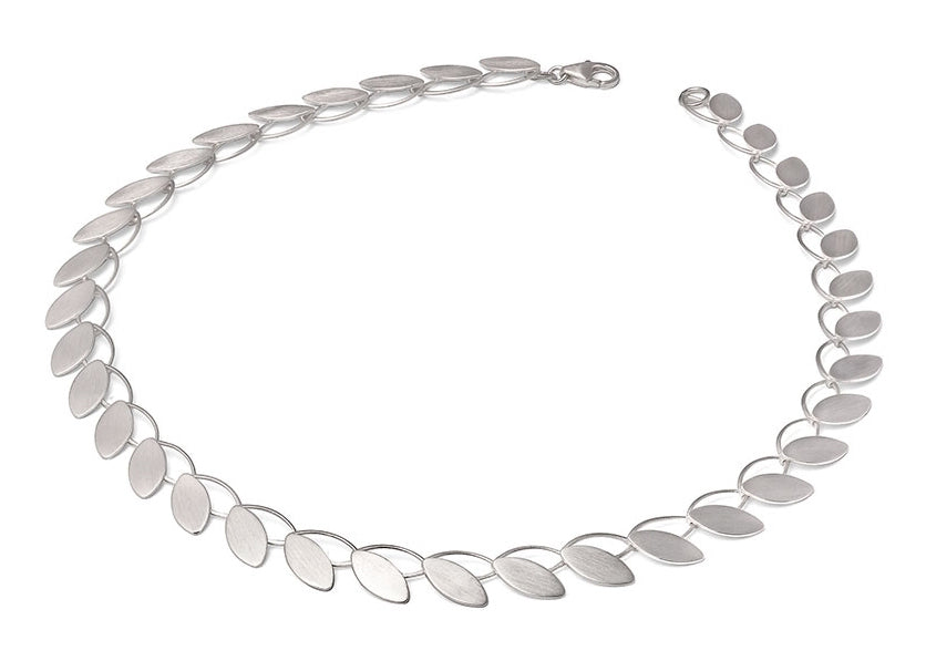 "Sterling Silver ""Open Petal"" Necklace"