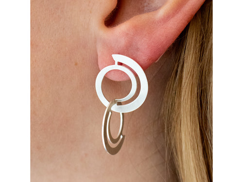 "Sterling Silver ""Wave Circle"" Earrings in Washington DC"