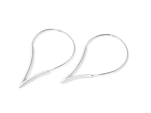 "Sterling Silver ""Teardrop Hoop Medium"" Earrings in Washington DC"