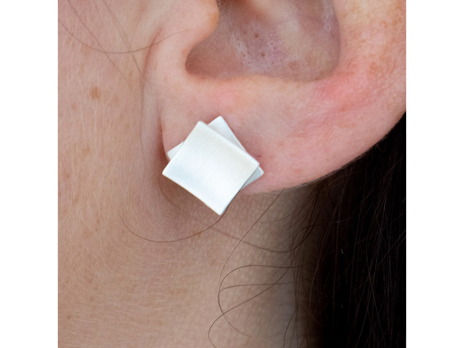 """Square on Square"" Stud Earrings"