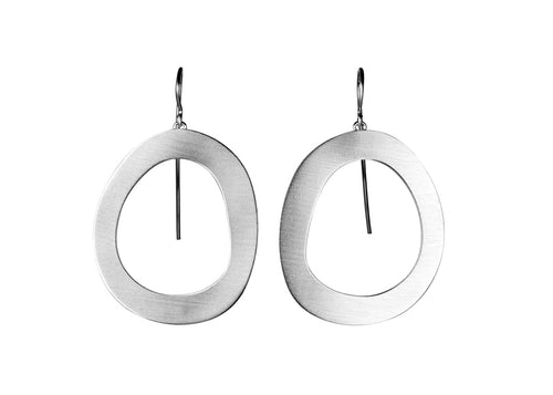Silver Stepping Stone Earrings
