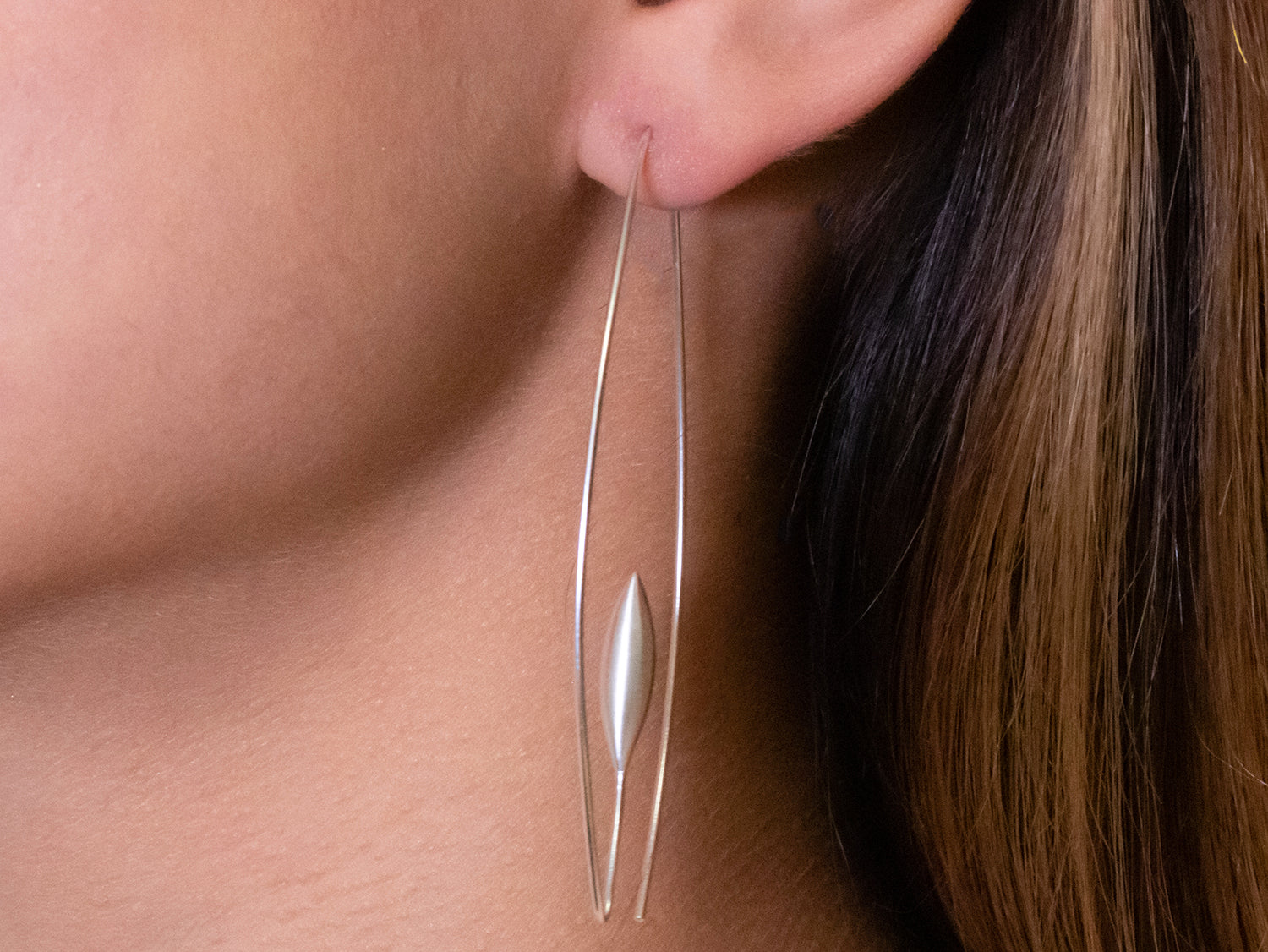 "Silver ""Wheat"" Earrings"