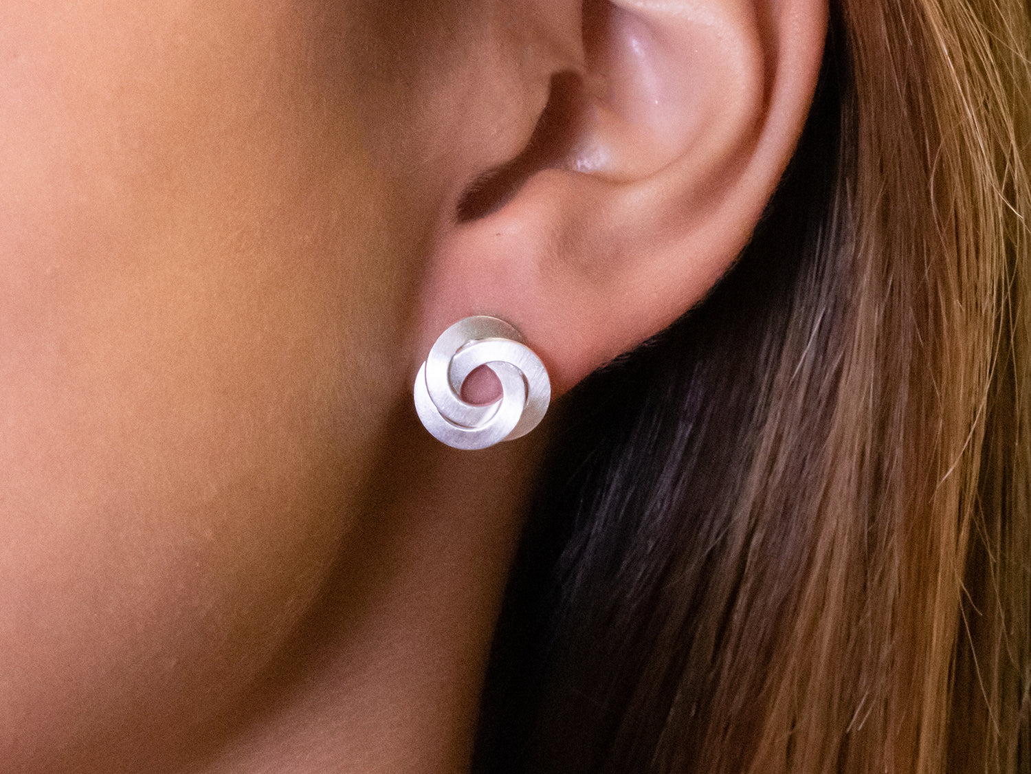 """Sterling Silver """"Knotted Up"""" Stud Earrings"""