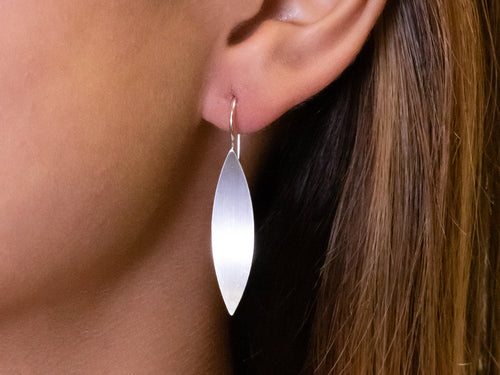 "Sterling Silver ""Open Leaf"" Earrings"