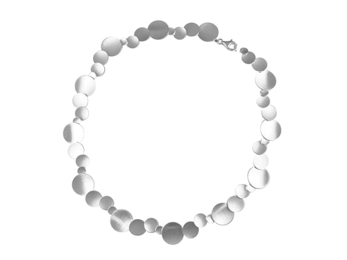 "Silver ""Multi-Disc"" Necklace"