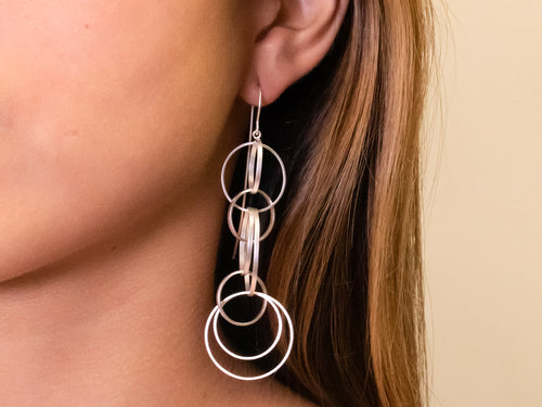 "Sterling Silver ""Circus Wire"" Earrings"