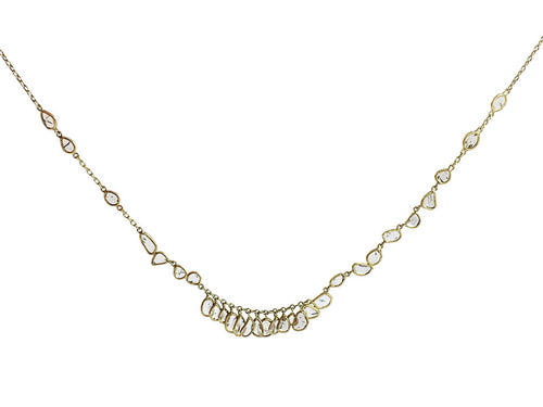 18K Yellow Gold and Polki Diamond Necklace