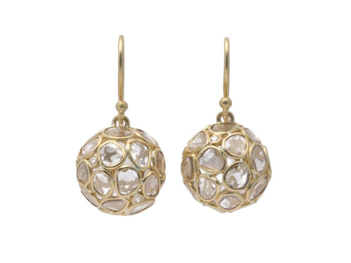 "18K Yellow Gold and Polki Diamond ""Névé"" Earrings"