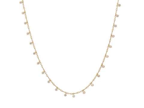 "18K Yellow Gold and Diamond ""Waterfall"" Necklace"