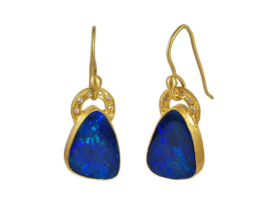 Opal Doublet Earrings at the Best Jewelry Store in Washington DC