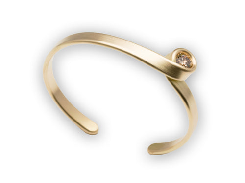 18K Yellow Gold and Champagne Diamond Cuff Bracelet