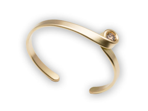 "18K Yellow Gold and Diamond ""Tendril"" Bracelet"