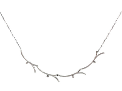 "18K White Gold And Diamond ""Kyoto"" Necklace"
