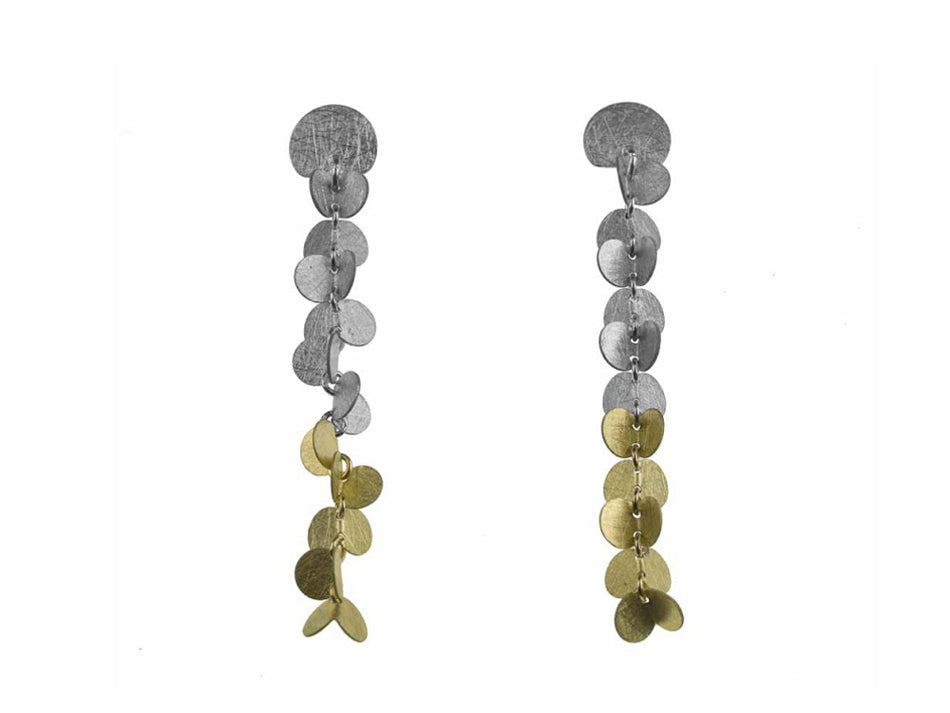 "Sterling Silver and 18K Yellow Gold ""Papallones"" Earrings"