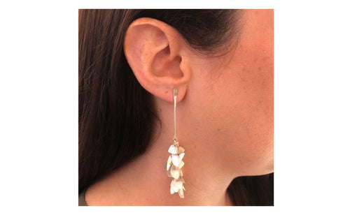 "Sterling Silver ""South Sea Island"" Earrings"