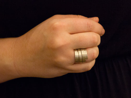 "Sterling Silver ""Posidonia"" Wrap Ring"
