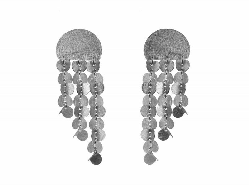 "Sterling Silver ""Papallones"" Earrings"