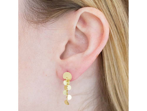 "18K Yellow Gold ""Papallones"" Earrings"