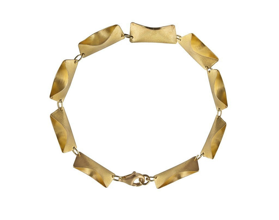 Gold Envelope Bracelet