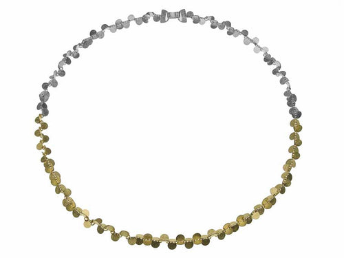 "18K Yellow Gold and Sterling Silver ""Papallones"" Necklace"