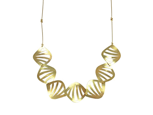 "18K Yellow Gold ""Jungle"" Necklace"