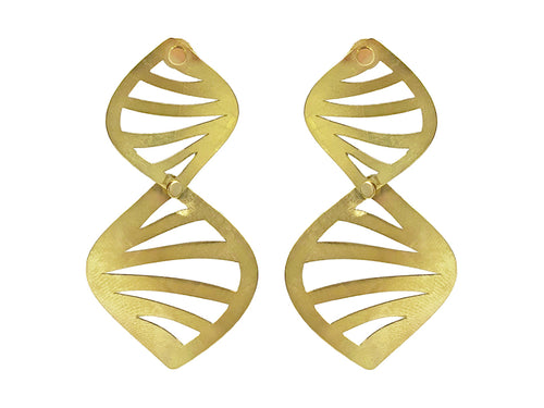 "18K Yellow Gold ""Jungle"" Earrings"