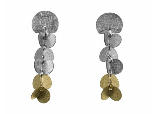 "Sterling Silver and Gold ""Papallones"" Earrings"