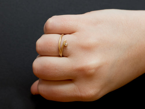 "18K Yellow Gold and Diamond ""Kyoto"" Ring"