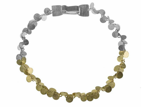 "Gold and Silver ""Papallones"" Bracelet"
