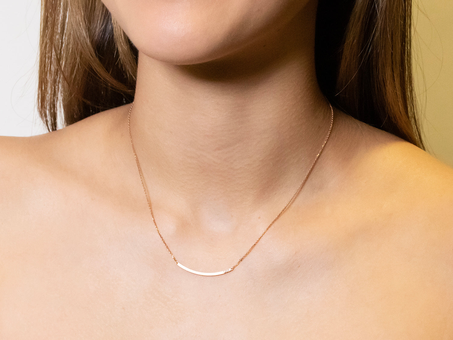 "Rose Gold Diamond ""Feel"" Necklace"