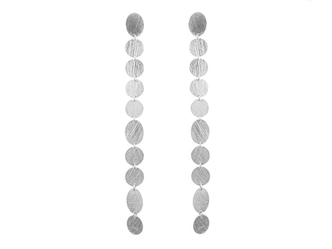 Silver Multi-Oval Pendant Necklace
