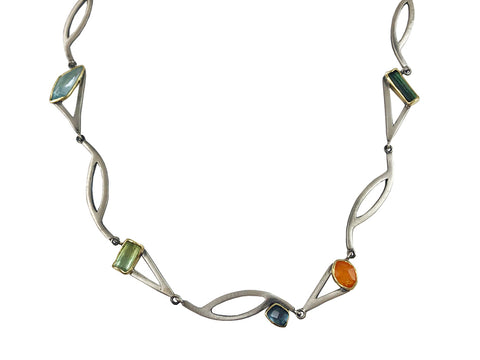 Fiery Opal and Diamond Pendant Necklace