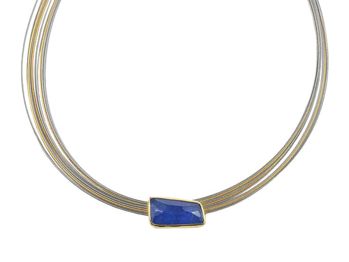 Tanzanite Pendant with Coil Necklace