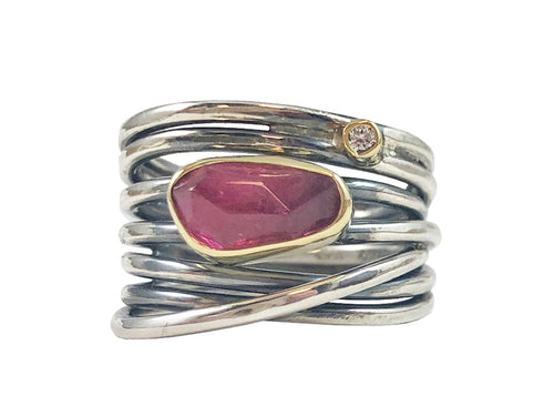 Neo-Vintage Tourmaline Ring