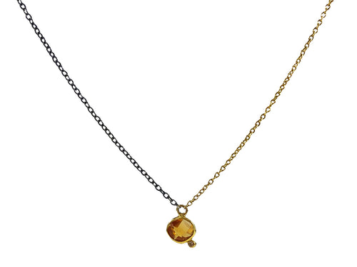 18K Yellow Gold, Sterling Silver, Citrine and Diamond Necklace in Washington DC